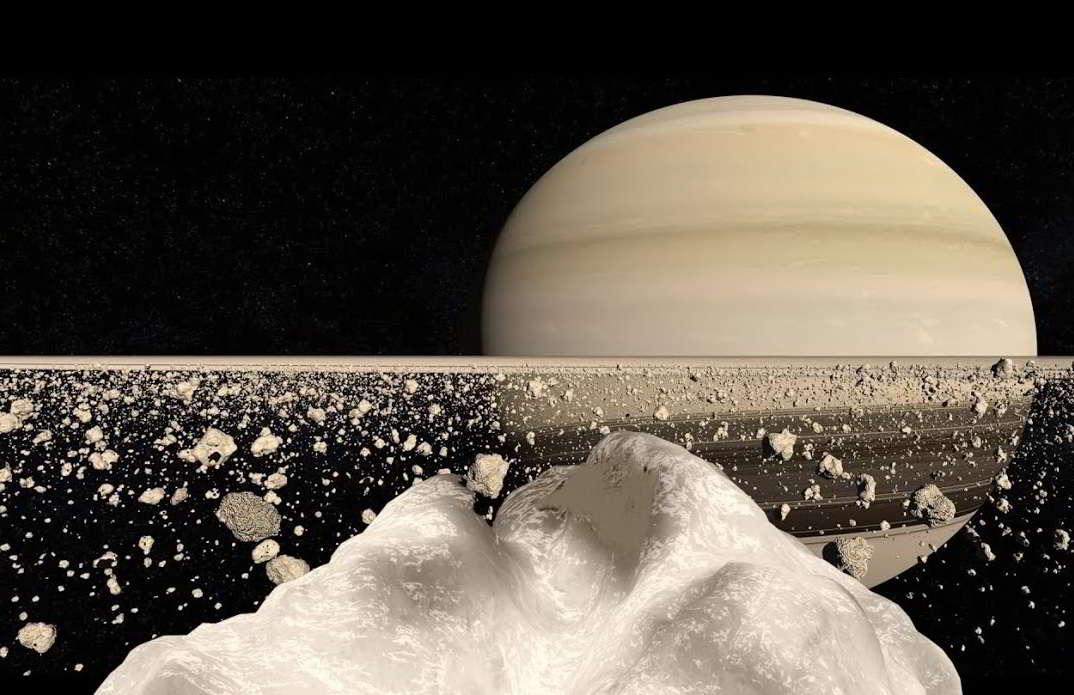 Satürn Halkalarının Yakın Görünümü