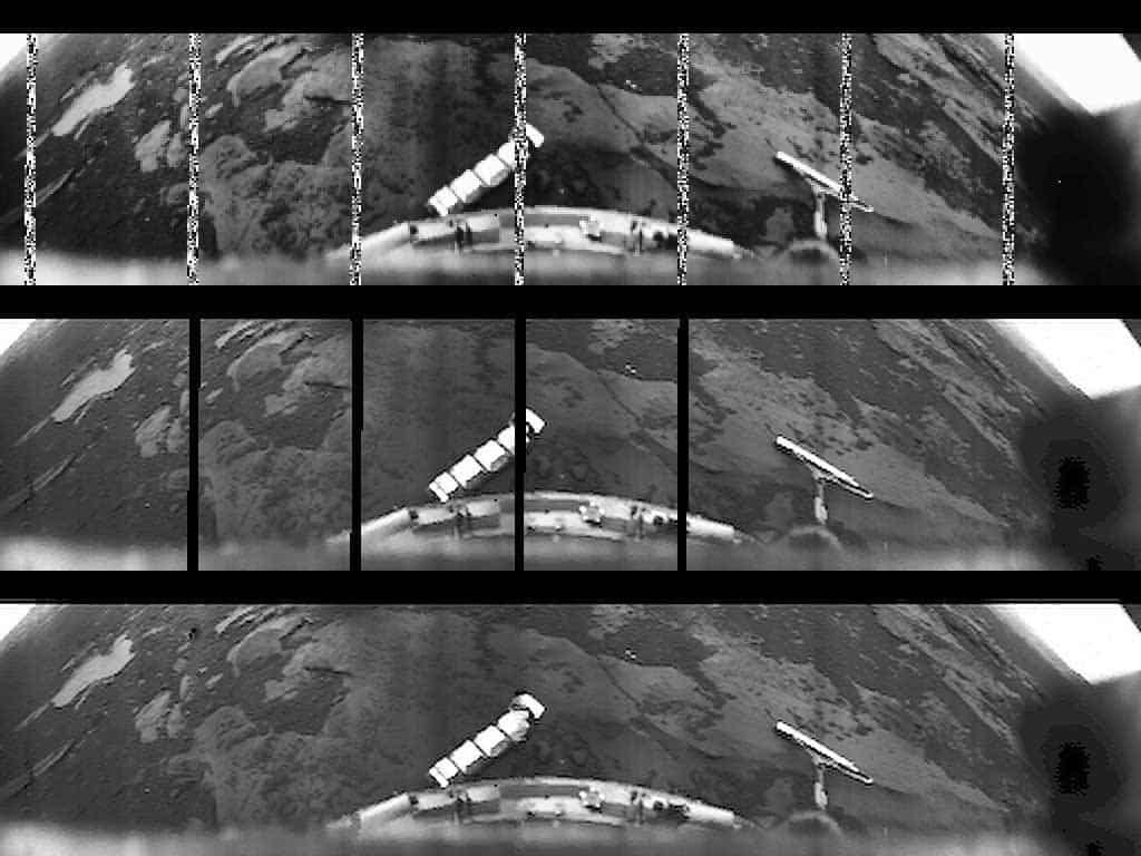 Venera-10 uzay aracının gönderdiği Venüs gezegeni yüzeyi görüntüsü