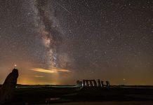 PerseidMeteor Yağmuru - Stonehenge ve Samanyolu Galaksisi
