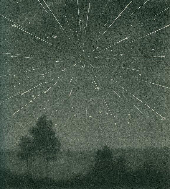 1933 Yılı Draconid Meteor Yağmuru Resim