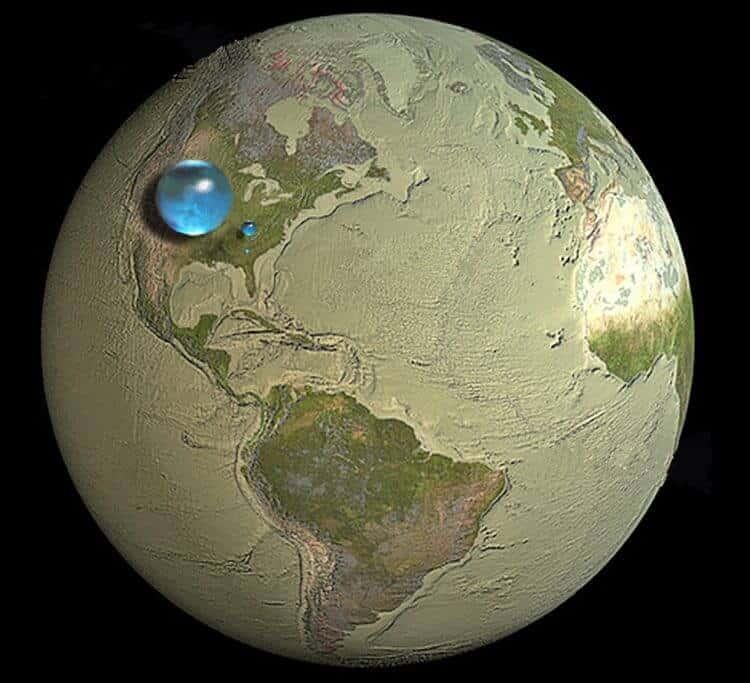 Dünyadaki suyun tamamen yok olması durumunda gezegenimizin görünümü