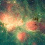 Spitzer Uzay Teleskobu tarafından çekilen Samanyolu'nun aktif yıldız oluşum bölgelerinden biri olan Kedi Patisi Nebulası'nın görünümü