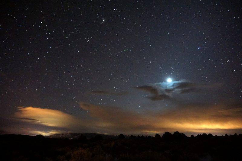 Yalnız Geminid Meteoru