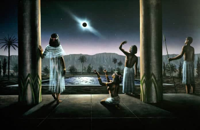 Tarihte Güneş Tutulması İlk Çizimler