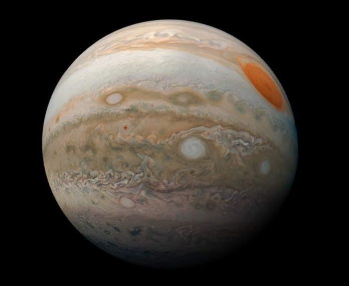 Jüpiter'in mermerimsi desenlerinin bulunduğu görüntü