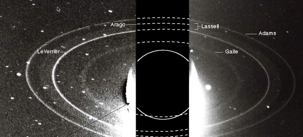 Neptün'ün halkalarının görünümü