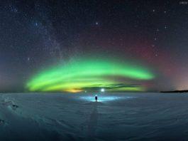 Superior Gölü, Kuzey Işıkları ve Samanyolu