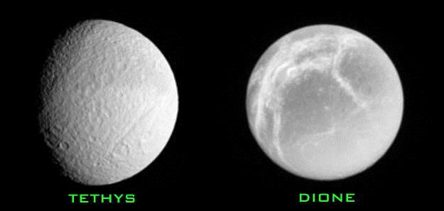 Satürn'ün uyduları: Tethys ve Dione
